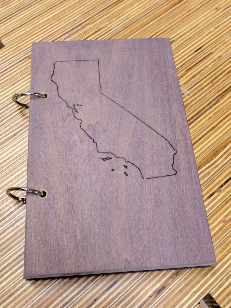 Refillable Wood Journal - Stained Poplar California