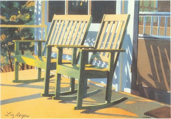 Fabulous Tranquility Porch Rocker Print Country Porch Rocker Art Print Inzonedesignstudio Interior Chair Design Inzonedesignstudiocom