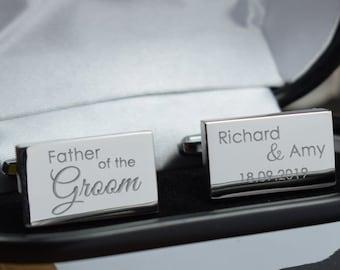 Men Wedding Groomsmen Usher Best Man Gift Customised Bespoke Pac-Man Cufflinks