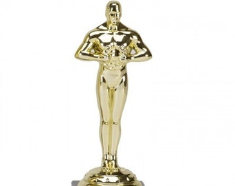 Personalised Engraved Icon Style Oscars Award, FREE ENGRAVING, Office Christmas Party, Secret Santa, Award Trophies, Corporate Award Trophy