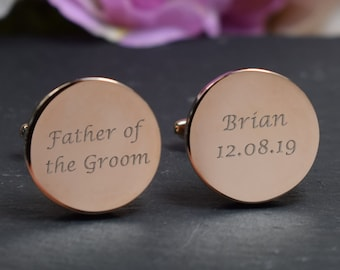 Personalised Oval Cuffl/'s With Engraved Photo /& Text With Gift Box Fathers Day