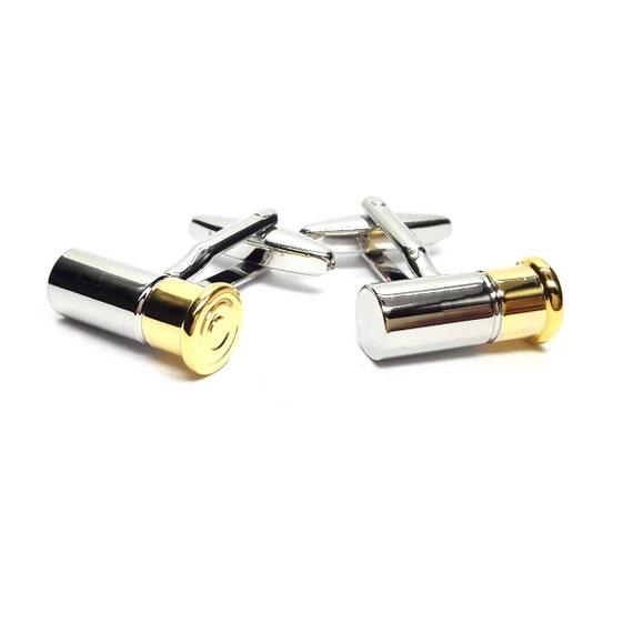 Gifts To Remember Two Tone Shotgun Shell Cufflinks X2CN393