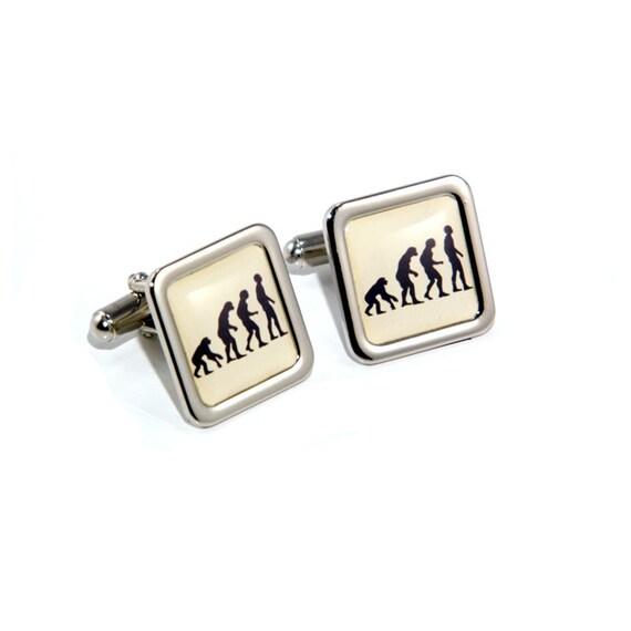 Satin Rectangle Gold-Tone Cufflinks Optional Engraved Personalised Box