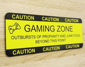 Personalised, Engraved Gaming Zone Kids Door Sign - Children's Door Plaque, Personalised Door Sign, Boys and Girls Door Sign
