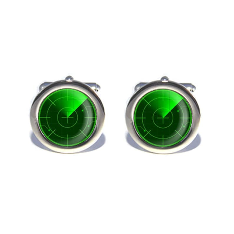 Geeky Gift Science Technology Computer Radar Cufflinks Gifts for Dad Birthday Anniversary Gifts for Men Father/'s Day Wedding Cufflinks