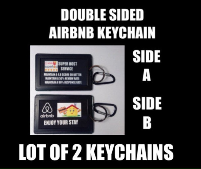 CUSTOM MADE AIRBNB Key Chain Keychain welcome sign decor guest guests host  hosts superhost vrbo vacation rental home house