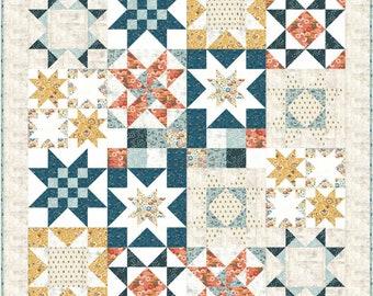 "FABRIC Moda Quilt Kit ~ WINTER VILLAGE ~ BasicGrey 66/"" x 82/"""