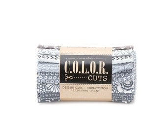 """Color Cuts Dessert Rolls - Roadtrip -  12 - 5"""" strips rolled and banded"""