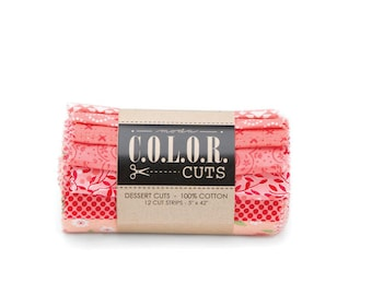 """Color Cuts Dessert Rolls - Daybreak-  12 - 5"""" strips rolled and banded"""
