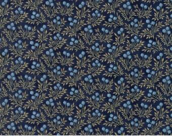 Ann's Arbor - Sprigs Dark Blue by Minick & Simpson for Moda, 1/2 yard, 14844 14