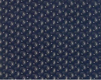 Ann's Arbor - Little Paisley Dark Blue by Minick & Simpson for Moda, 1/2 yard, 14847 14