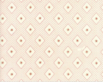 Ann's Arbor - Diamonds Rosebud Red by Minick & Simpson for Moda, 1/2 yard, 14843 23