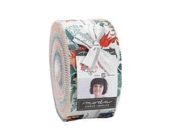 """Lady Bird Jelly Roll by Crystal Manning for Moda Fabric, 40 - 2 1/2"""" x 44"""" strips"""