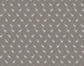 Golden Days Deer Taupe - Fancy Pants for Riley Blake Designs, 1/2 yard, C8603-Taupe