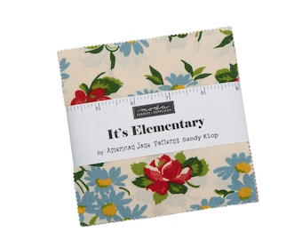 """Its Elementary Charm Pack by  American Jane for Moda, 42 - 5"""" squares"""