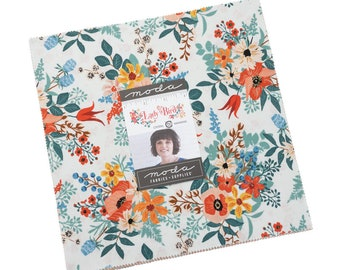 """Lady Bird Layer Cake by Crystal Manning for Moda Fabrics, 10"""" squares, florals, 11870LC"""