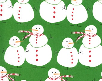 Merry and Bright- Merry Snowmen Ever Green by Me & My Sisters Designs for Moda, 1/2 yd,  22400 12