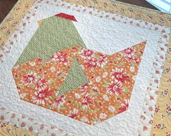 """Nesting Table Topper by Margot Languedoc Designs for the Pattern Basket - Pattern No. TPB 1807, measures approx. 28 1/2"""" x 30"""""""