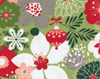 Hustle and Bustle - Floral Large Pear by Basic Grey for Moda Fabrics, 1/2 yd, christmas, floral, 30660 16