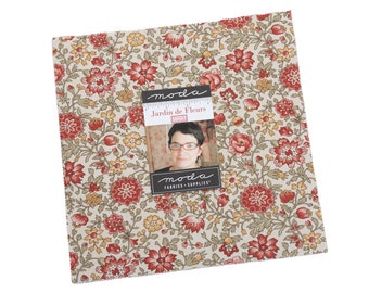 """Jardin De Fleurs Layer Cake by French General for Moda Fabrics, 10"""" squares, 13890LC"""