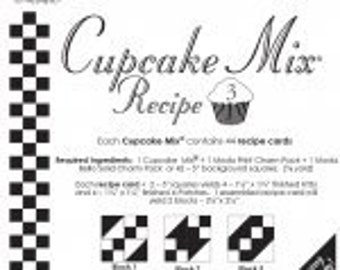 Cupcake Mix Recipe 3 by Miss Rosie's Quilt Co. - 44 recipe cards