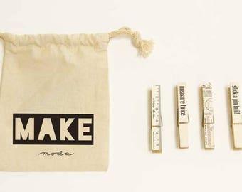 Make By Moda - Decorative Clothespins, 10 pieces