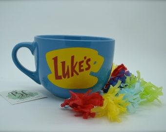 NEW Shape | NEW Size | Dishwasher and Microwave Safe | Luke's Diner Mug | Big Mug | Lukes mug | Lukes Diner | Gilmore Girls Inspired | 16 oz