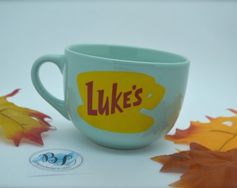 NEW Shape | Dishwasher - Microwave Safe | Luke's Diner Mug | Big Mug | Lukes mug | Lukes Diner | Gilmore Girls Inspired | 16 oz