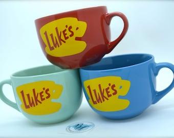 NEW Shape Luke's Diner Mug | No vinyl | Dishwasher Safe | Microwave Safe | Lukes mug | Lukes Diner | Gilmore Girls Inspired | 16 Ounces