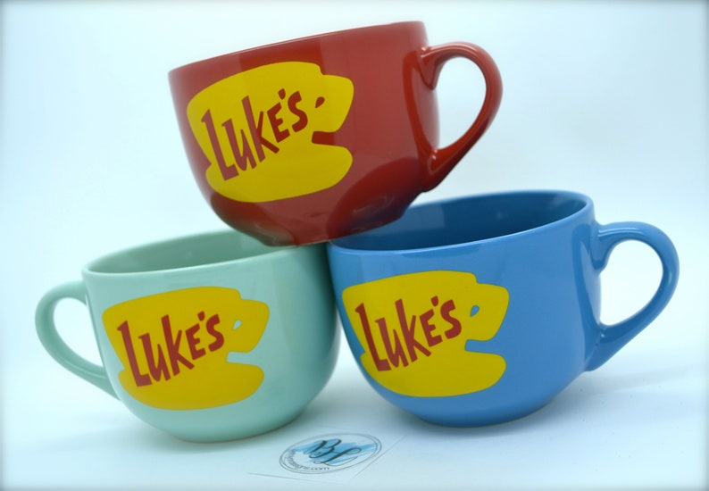 NEW Shape Luke's Diner Mug  No vinyl  Dishwasher Safe  image 0