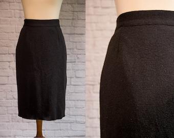 Camel knit skirt rodier 70s large