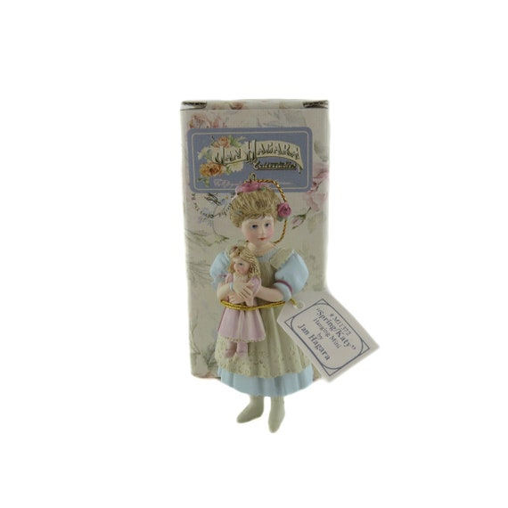 Jan Hagara Figurines For Sale: Jan Hagara Collectibles 1994 Spring Katy Resin Hanging
