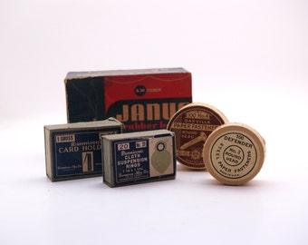 Vintage Office Supplies//Desk Supplies//Mid Century Secretary Supplies