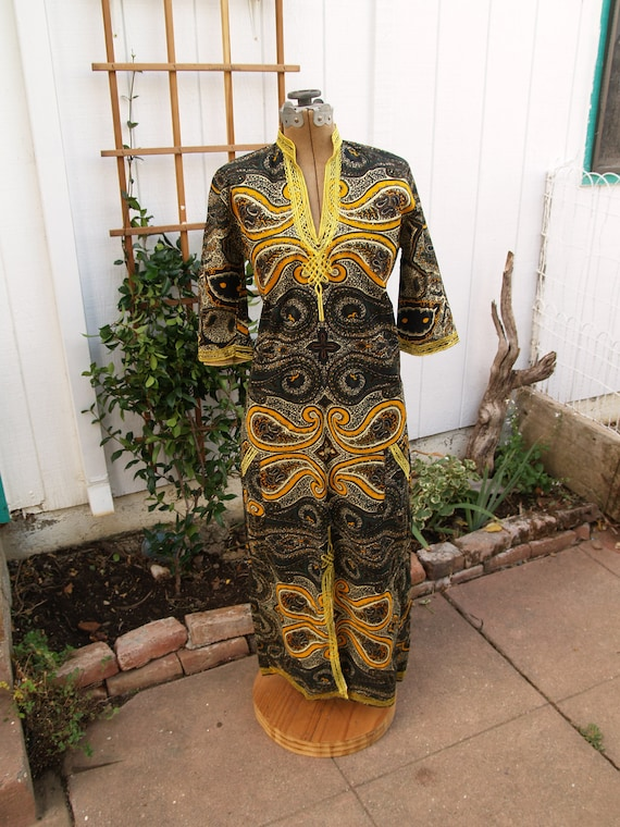 Vintage Dashiki or Kaftan Maxi Dress NWOT