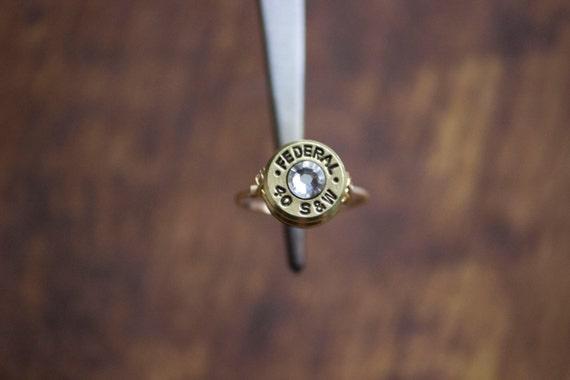 Jagd Kugel Ring Kugel Schmuck 40 Kaliber Draht gewickelt