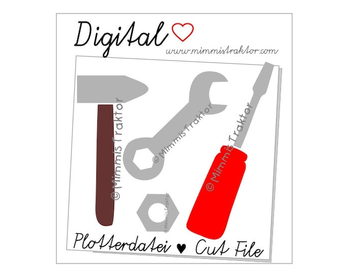 Cut File SVG, DXF, Instant Digital Download, Tools, limited commercial use