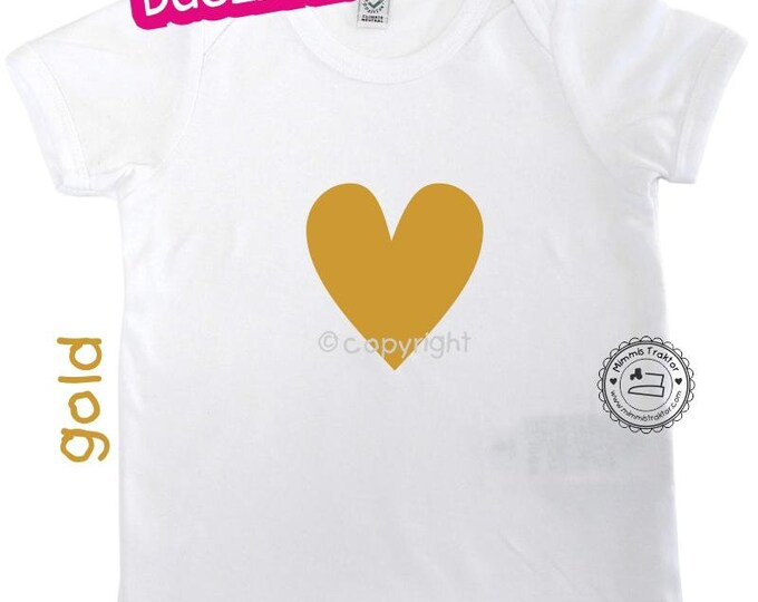 Bügelbild Herz 9,5 cm x 10 cm Flexfolie GOLD