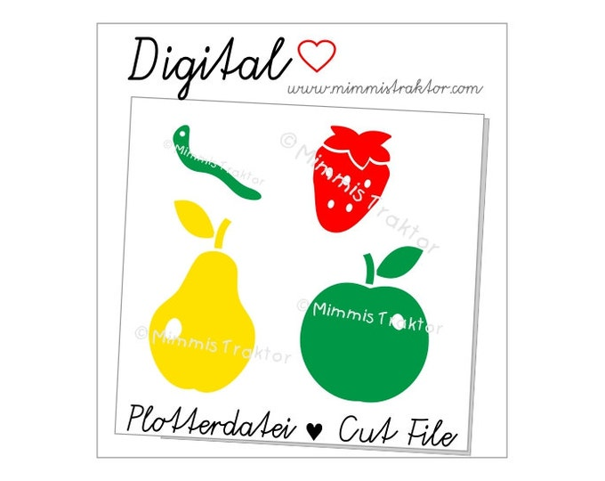 Cut File SVG, DXF, Instant Digital Download, Fruit, limited commercial use