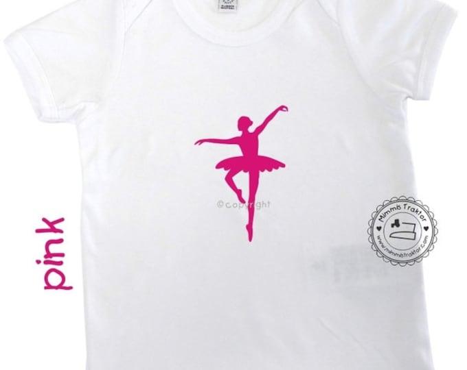 Bügelbild Ballerina 8,2 cm x 12 cm PINK