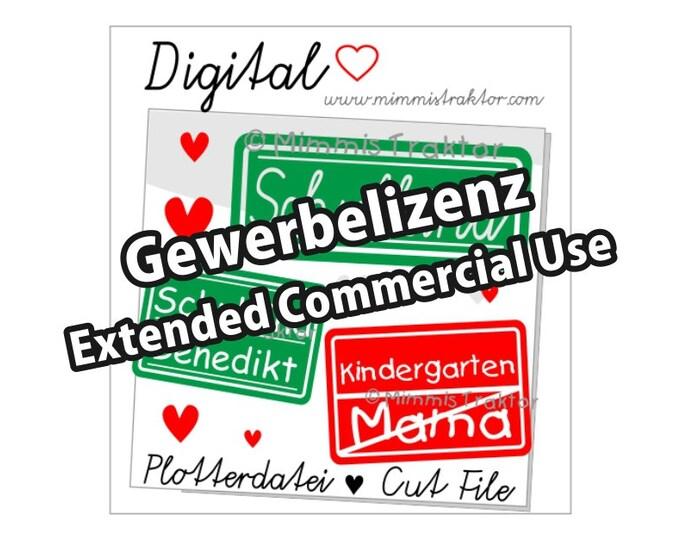 Additional commercial license, Schulkind Kindergarten, Instant Digital Download,