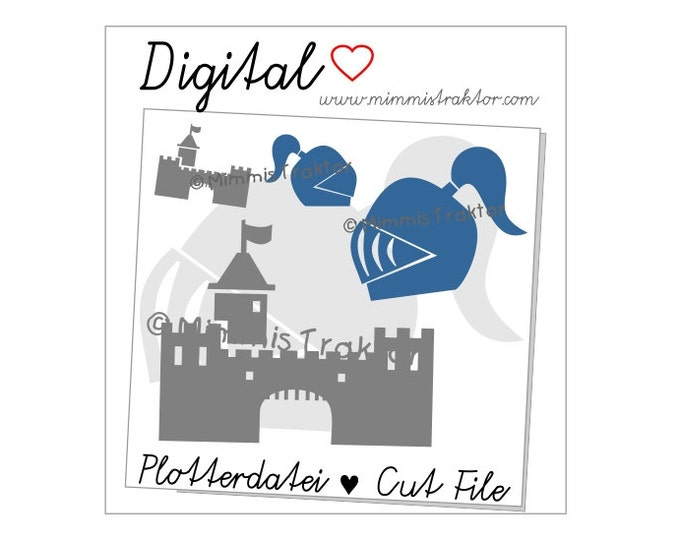 Cut File SVG, DXF, Instant Digital Download, Knights Knight's Castle, limited commercial use