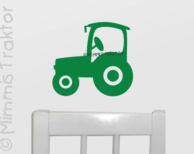 Wandtattoo Traktor 21 cm GRÜN A4