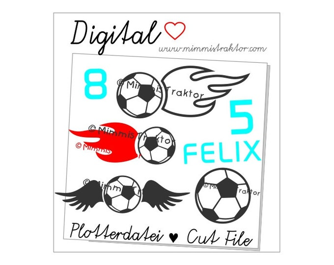 Cut File SVG, DXF, Instant Digital Download, Soccer, football, fire, wings, limited commercial use