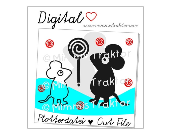 Cut File SVG, DXF, Instant Digital Download, Mouse Lolly Sucker, limited commercial use