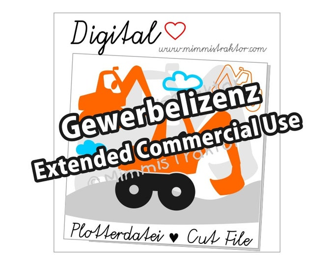 Additional commercial license, digger clouds, Instant Digital Download,