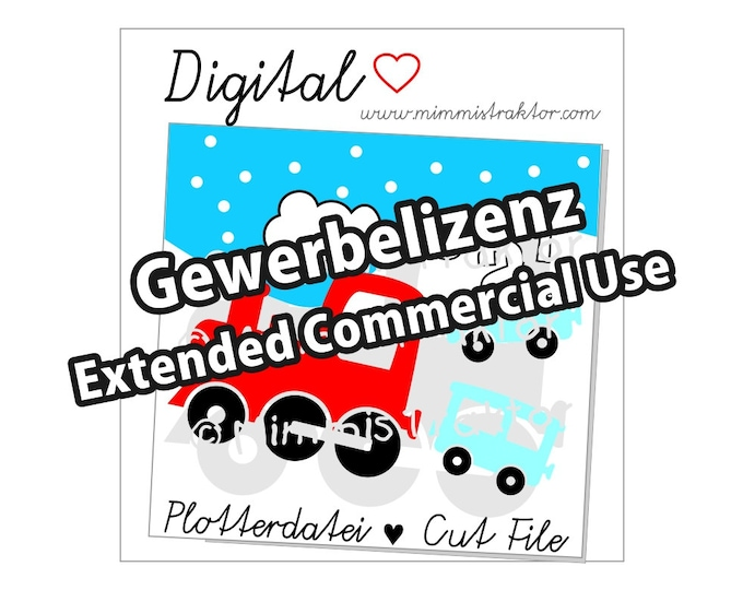 Additional commercial license, locomotive wagon train, Instant Digital Download,