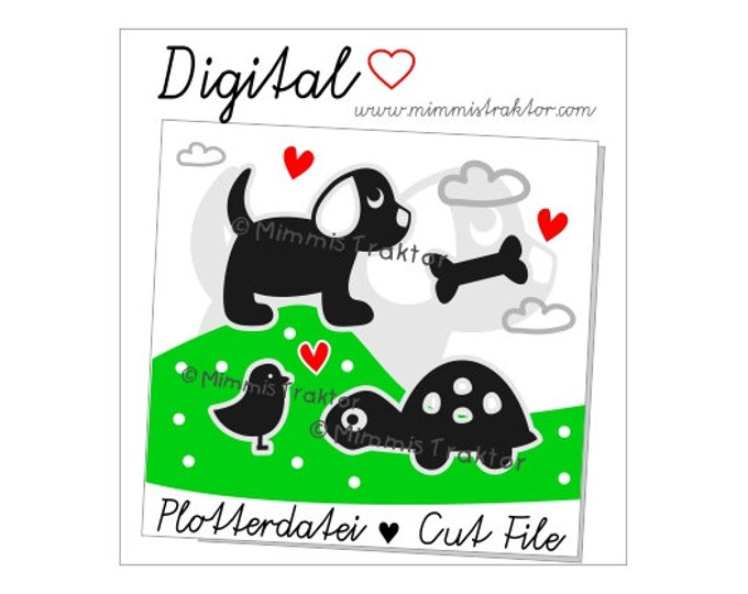 Cut File SVG, DXF, Instant Digital Download, Dog, turtle, tortoise, limited commercial use