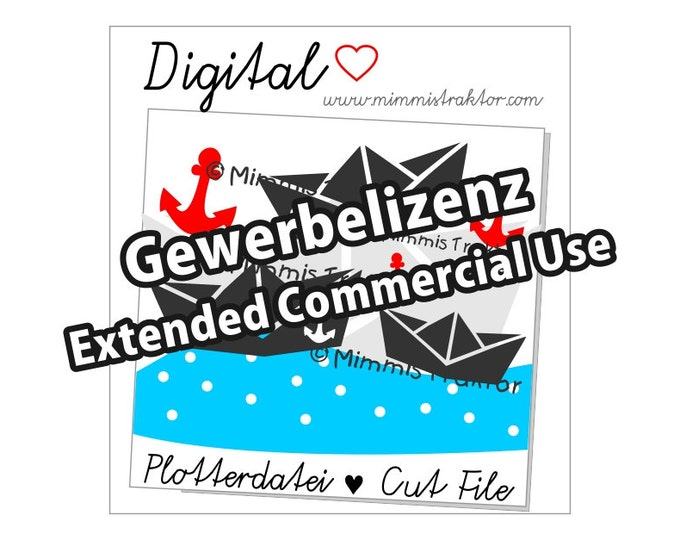 Additional commercial license, Instant Digital Download, Paper Boats, Anchor