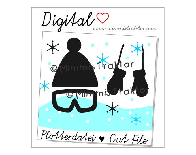 Cut File SVG, DXF, Instant Digital Download, Cap, beanie, snowboard, limited commercial use