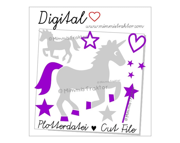 Cut File SVG, DXF, Instant Digital Download, Unicorns Magic Wand, limited commercial use